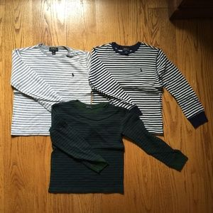 Boys Striped Polo Sweaters (M 10-12)